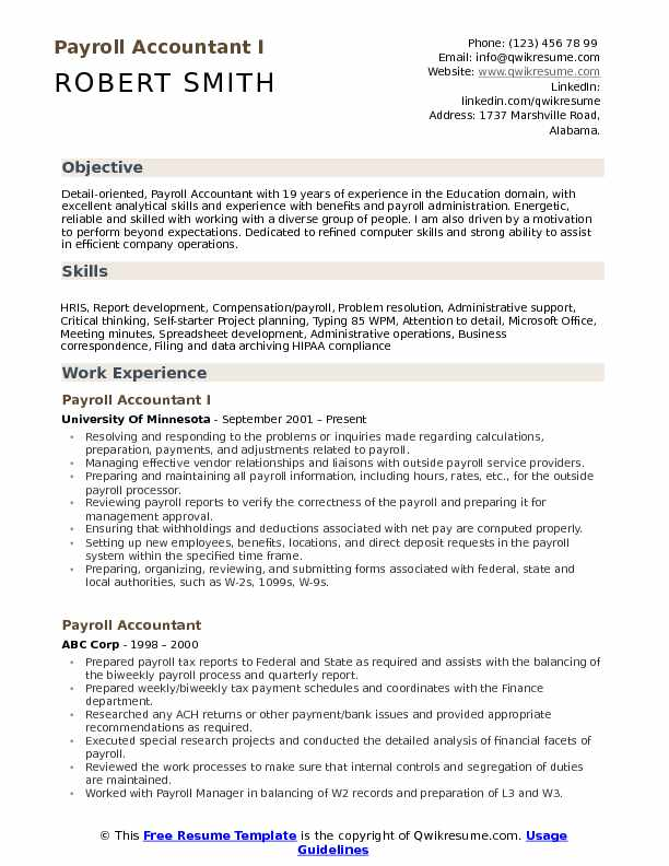 payroll accountant resume samples qwikresume examples pdf objective for insurance claims Resume Payroll Accountant Resume Examples