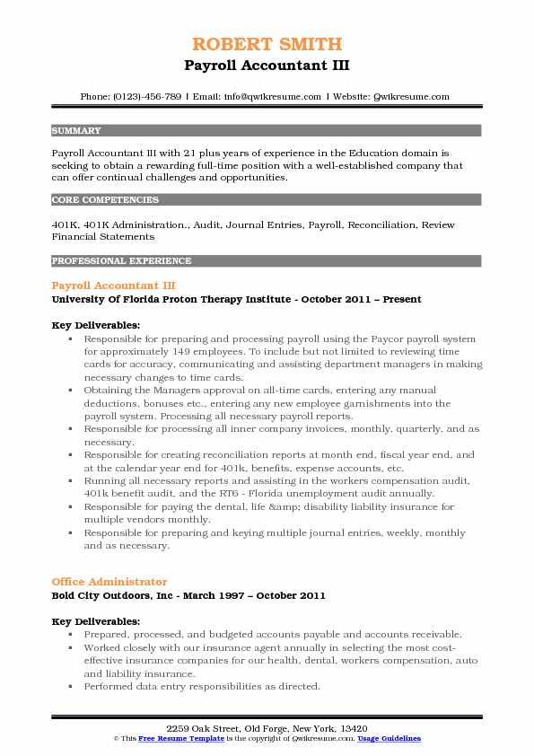 payroll accountant resume samples qwikresume examples pdf sample high school for college Resume Payroll Accountant Resume Examples