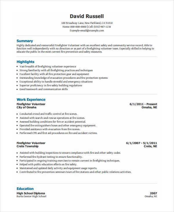 pdf free premium templates firefighter resume job examples sap hana administration career Resume Firefighter Resume Examples