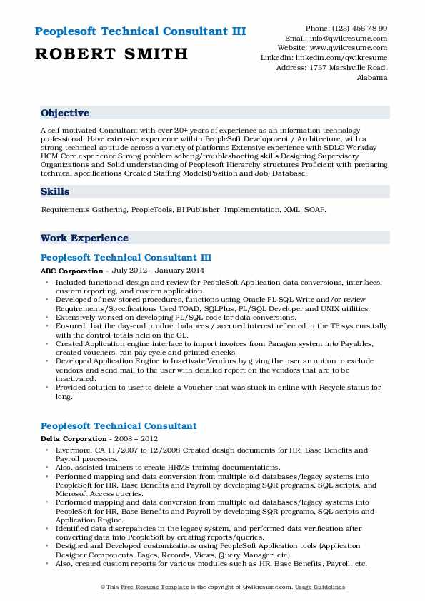 peoplesoft technical consultant resume samples qwikresume payroll pdf example of Resume Peoplesoft Payroll Resume