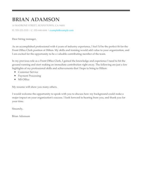 perfect cover letter templates my resume great and front office clerk policy nedir Resume Great Resume And Cover Letter