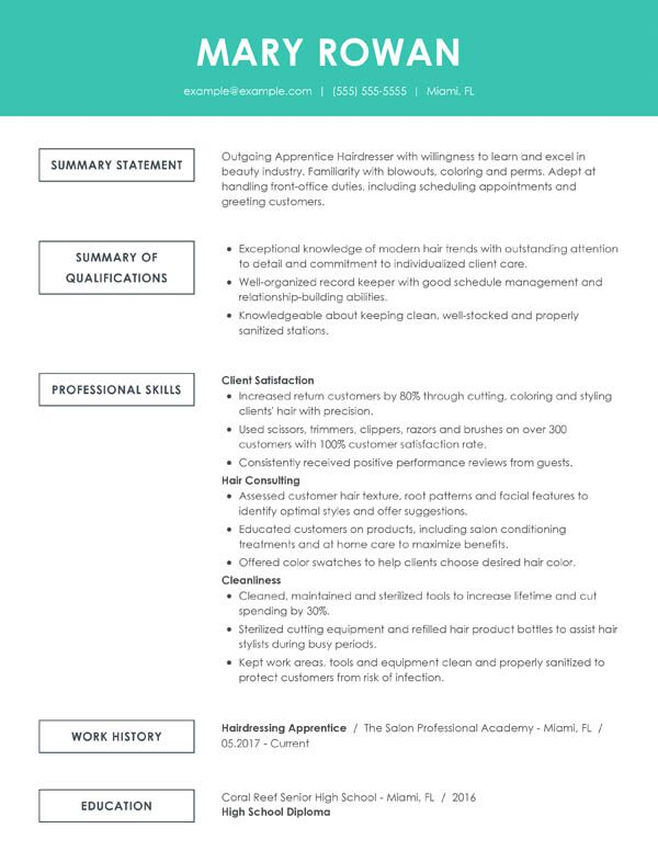 perfect resume examples for my outstanding simple functional entry level hair stylist Resume Outstanding Resume Examples