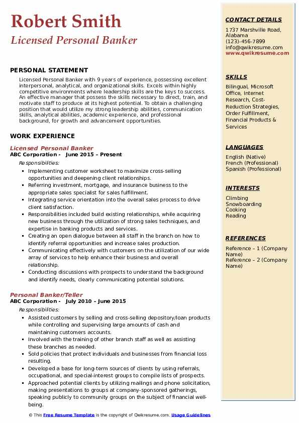 personal banker resume samples qwikresume job description for pdf ksu template assistant Resume Personal Banker Job Description For Resume
