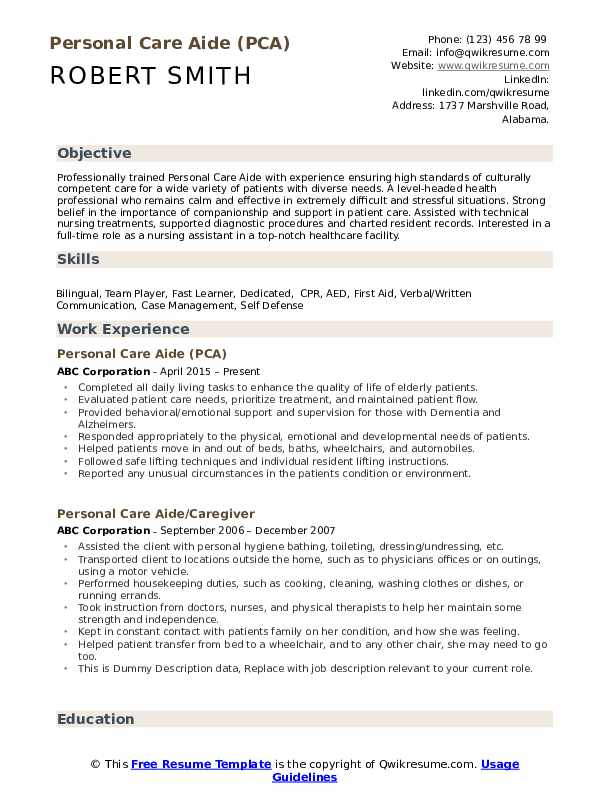personal care aide resume samples qwikresume assistant examples pdf owl etiquette writing Resume Personal Care Assistant Resume Examples