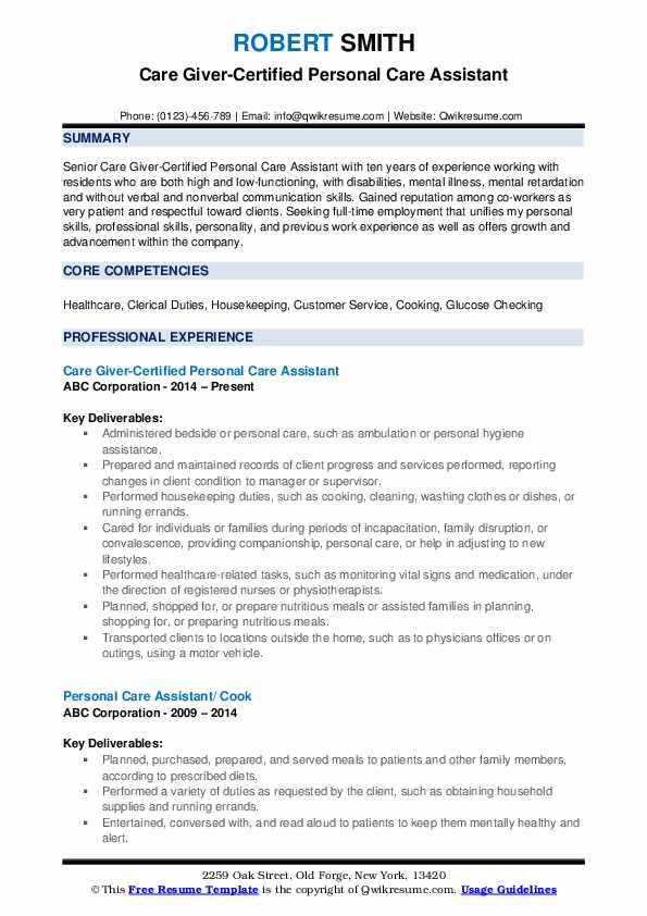 personal care assistant resume samples qwikresume examples pdf meaning of curriculum Resume Personal Care Assistant Resume Examples