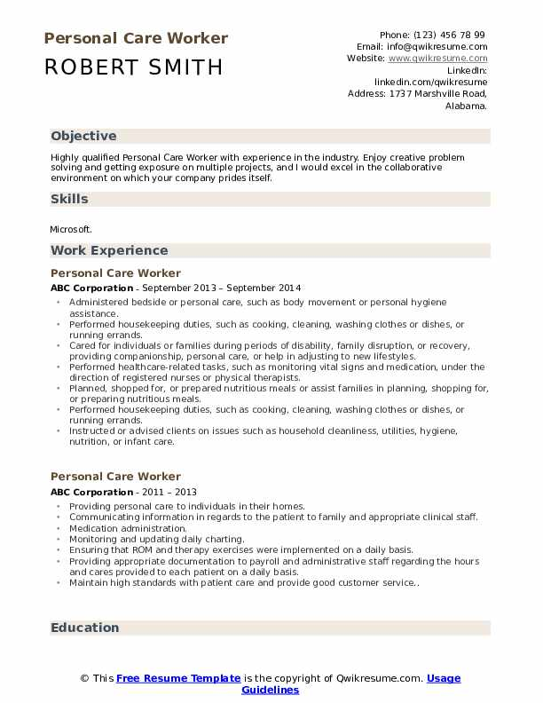 personal care worker resume samples qwikresume assistant examples pdf references on Resume Personal Care Assistant Resume Examples