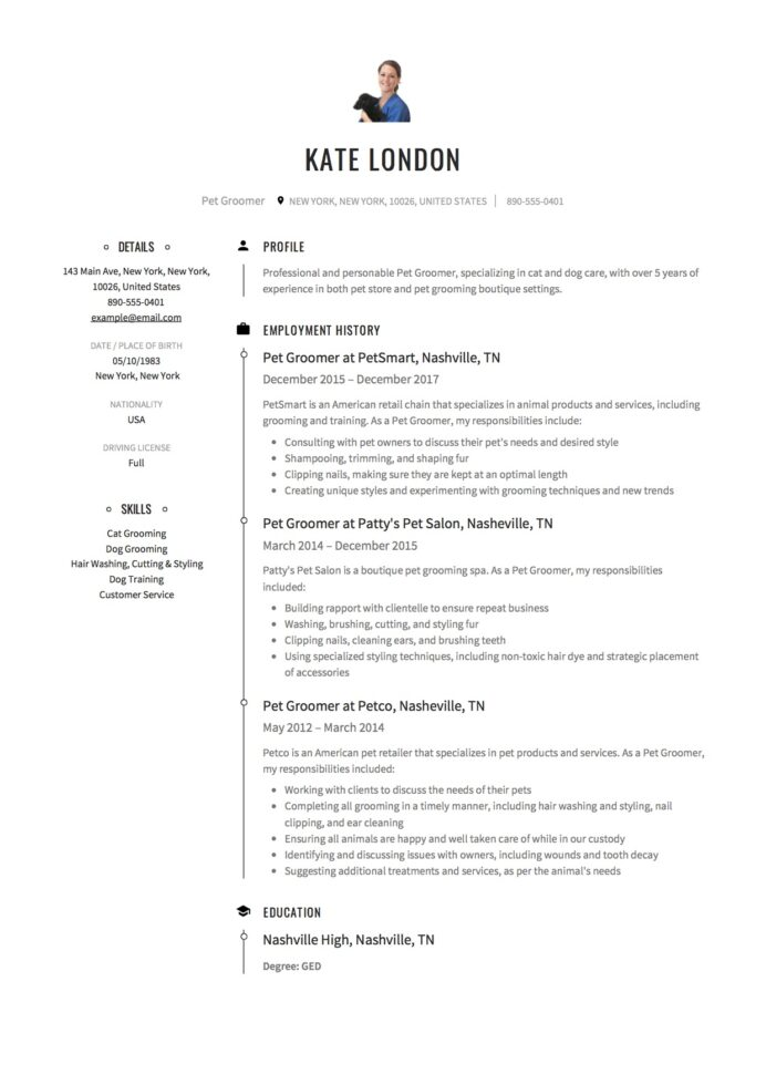 pet groomer resume writing guide samples pdf dog cover letter good templates for college Resume Dog Groomer Resume Cover Letter