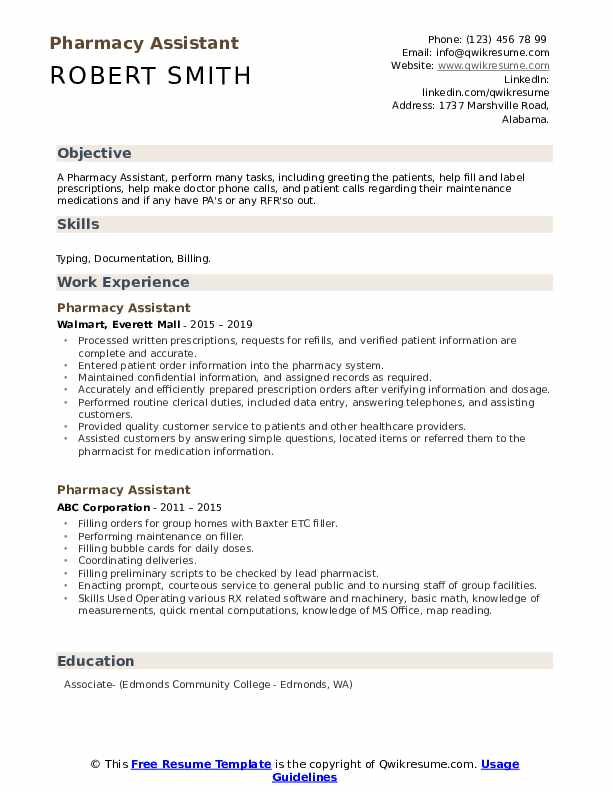 pharmacy assistant resume samples qwikresume headline for freshers pdf richard grenell Resume Resume Headline For Pharmacy Freshers