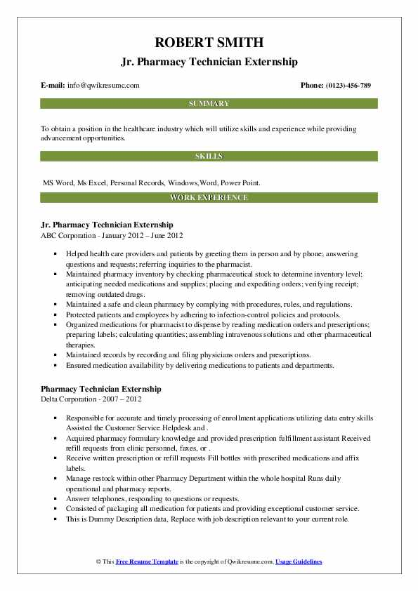 pharmacy technician externship resume samples qwikresume examples pdf stand up comedy Resume Pharmacy Technician Externship Resume Examples