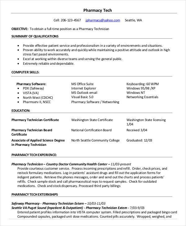 pharmacy technician resume templates pdf free premium entry level samples certified Resume Entry Level Pharmacy Technician Resume Samples