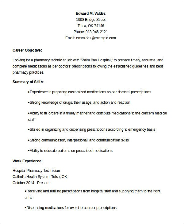 pharmacy technician resume templates pdf free premium entry level samples experienced Resume Entry Level Pharmacy Technician Resume Samples