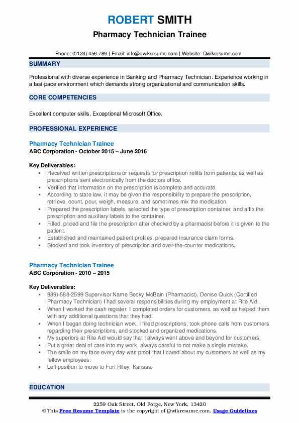 pharmacy technician trainee resume samples qwikresume entry level pdf indeed subscription Resume Entry Level Pharmacy Technician Resume Samples