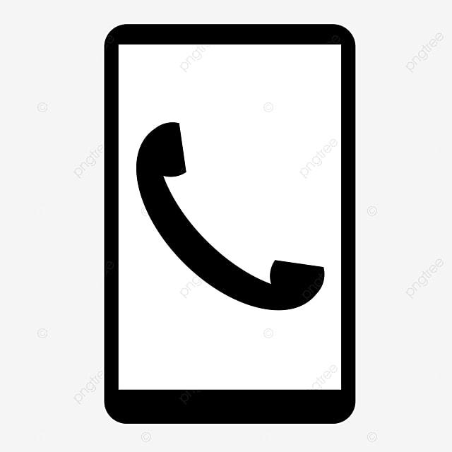 phone small silhouette icon cell call black and resume transparent clipart image file for Resume Phone Symbol For Resume