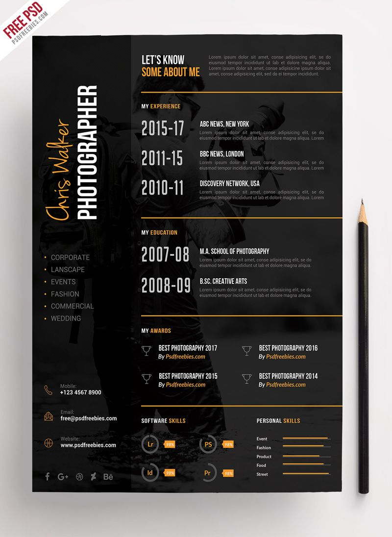 photographer resume cv template this is moder photography design creative templates mcse Resume Creative Photographer Resume Templates