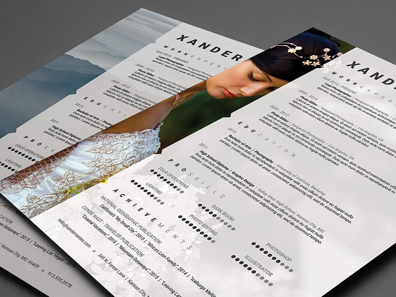 photographer resume photoshop template on behance creative templates hipaa compliance Resume Creative Photographer Resume Templates