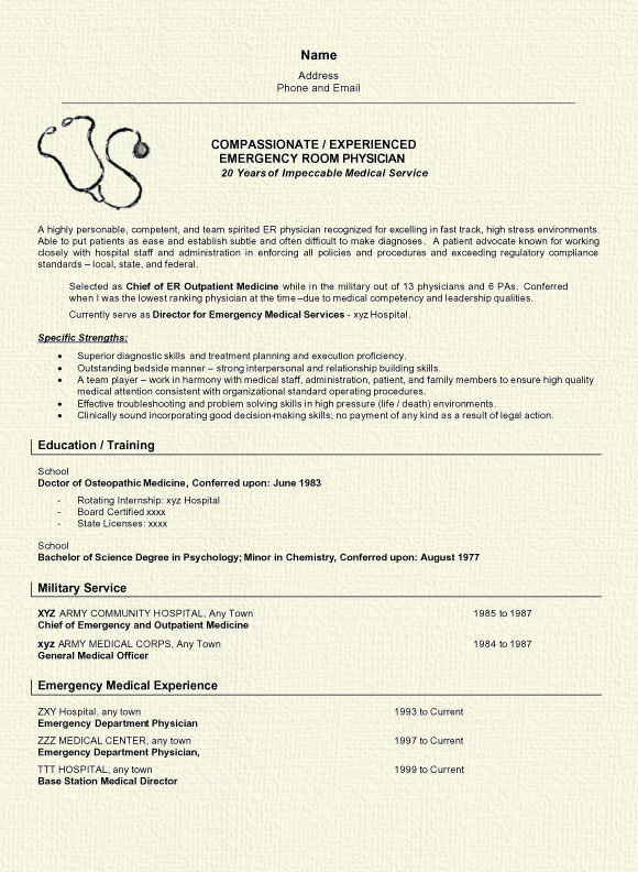 physician resume example medical doctor sample doctor6a home health aide professional Resume Medical Doctor Resume Example