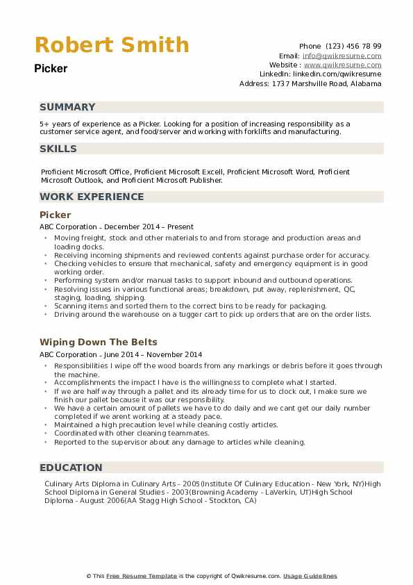 picker resume samples qwikresume packer job description for pdf finance writers skills Resume Picker Packer Job Description For Resume