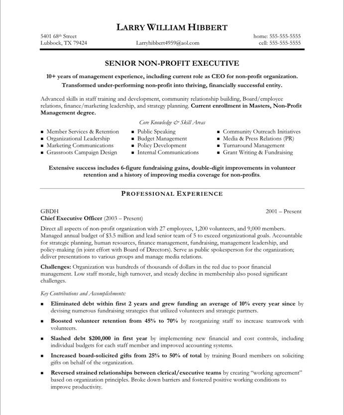 pin by blue sky resumes on non profit resume samples free executive template sample Resume Non Profit Resume Objective Examples