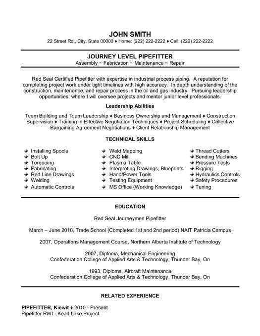 pin by coral shea on rays 40th resume helper templates good examples construction Resume Construction Pipefitter Resume