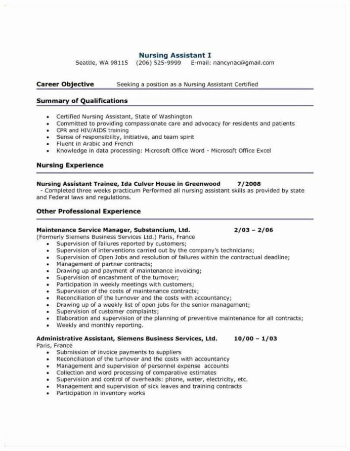 pin on best resume example for entry level cna sample free template anthropology Resume Entry Level Cna Resume Sample