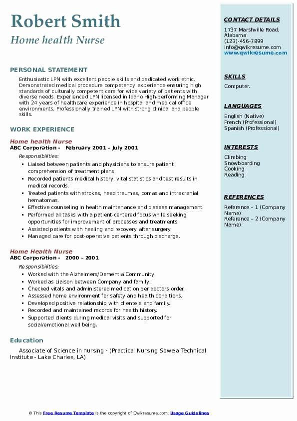 pin on job resume sample home health care secondary science teacher airline format Resume Home Health Care Resume