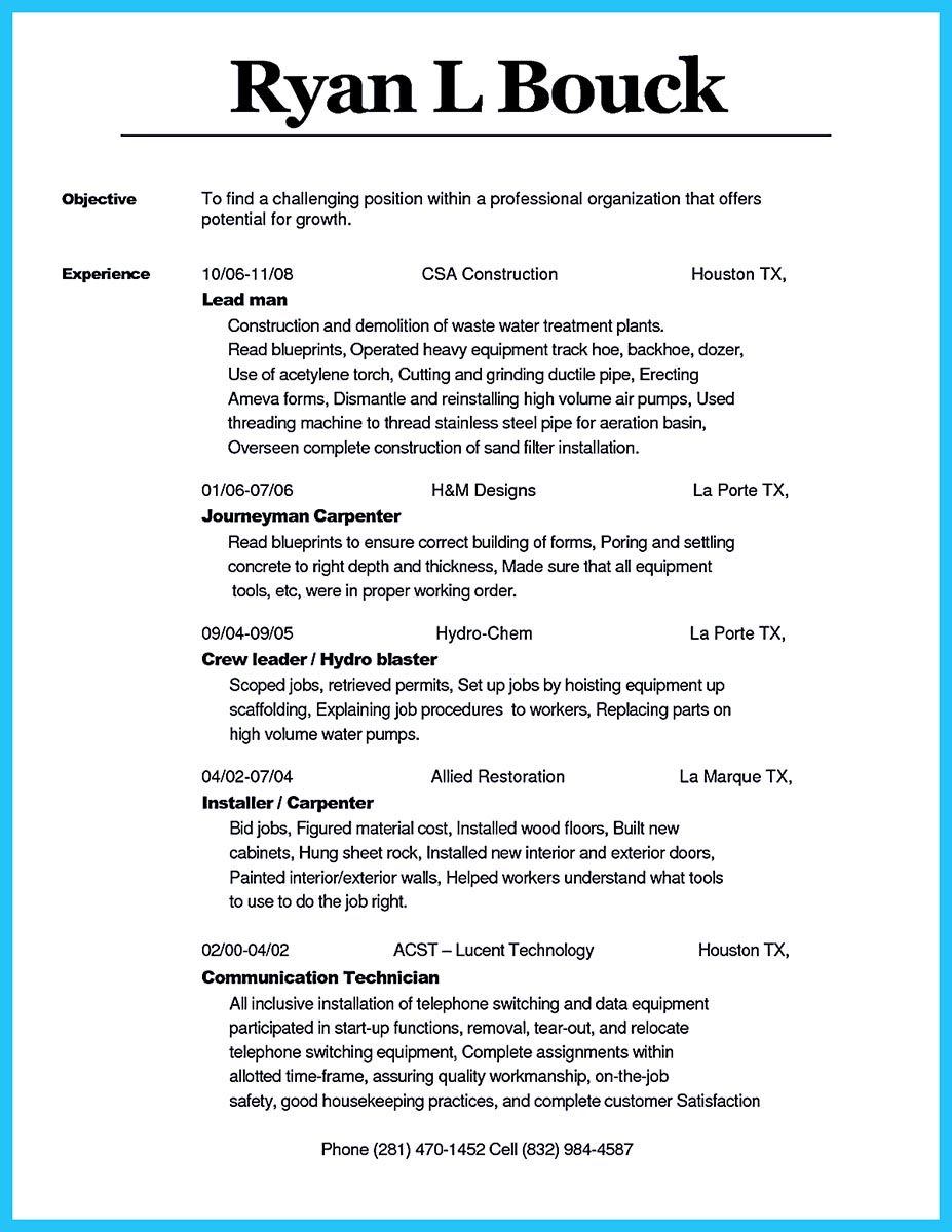 pin on resume sample template and format concrete carpenter political science objective Resume Concrete Carpenter Resume