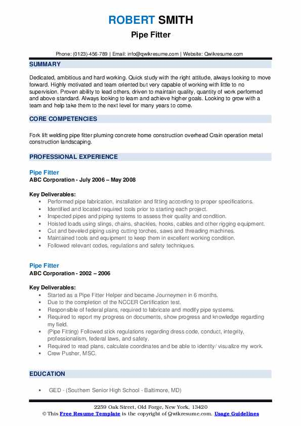 pipe fitter resume samples qwikresume construction pipefitter pdf accounts payable Resume Construction Pipefitter Resume