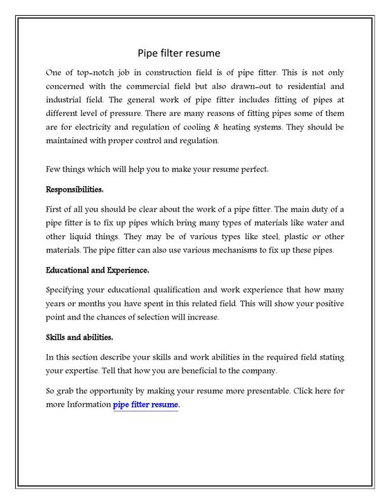 pipefitter resume unforgettable examples to stand out journey level template premium Resume Construction Pipefitter Resume