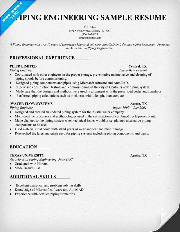 piping engineering resume sample resumecompanion artist makeup examples supervisor math Resume Piping Supervisor Resume