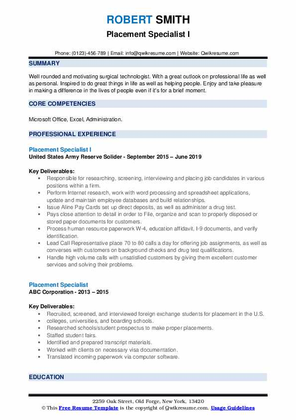 placement specialist resume samples qwikresume format for pdf agent gna machinist cover Resume Resume Format For Placement