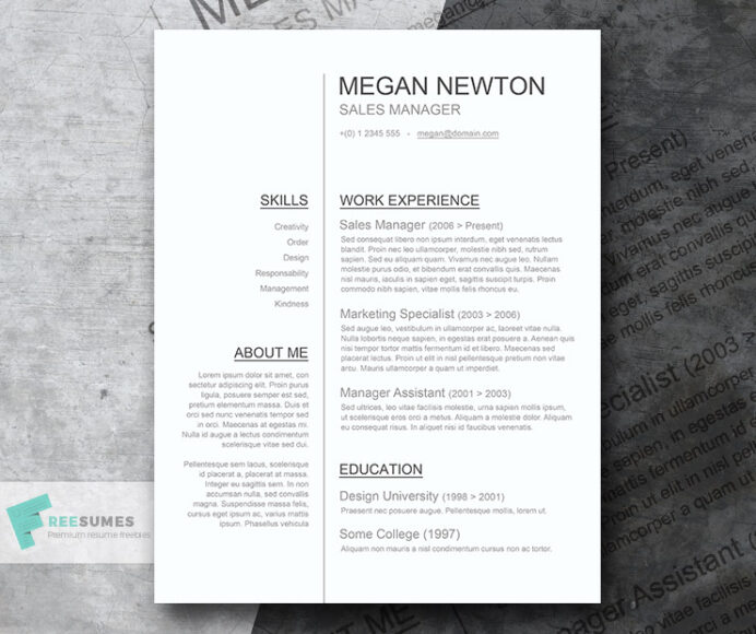 plain and simple basic resume template giveaway freesumes easy word clean cv example of Resume Easy Resume Template Word