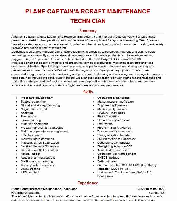 plane captain resume example navy brooklyn new software for windows label nurse objective Resume Navy Plane Captain Resume