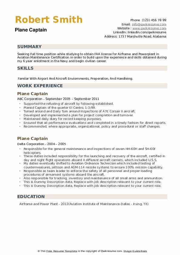 plane captain resume samples qwikresume navy pdf college freshman template sample special Resume Navy Plane Captain Resume