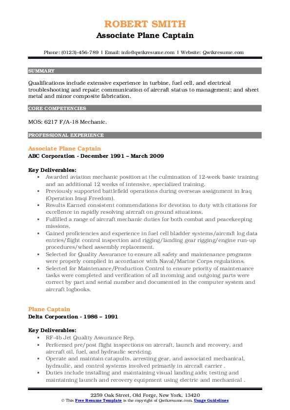 plane captain resume samples qwikresume navy pdf sample special needs assistant summary Resume Navy Plane Captain Resume