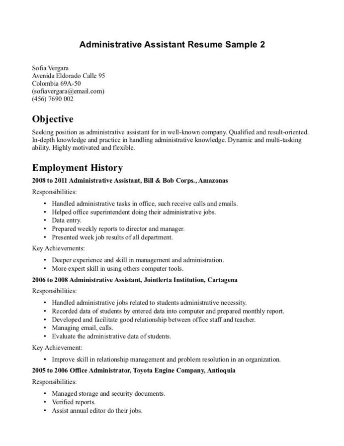 police officer resume objective http resumecareer info administrative assistant medical Resume Resume Objective Seeking A Position