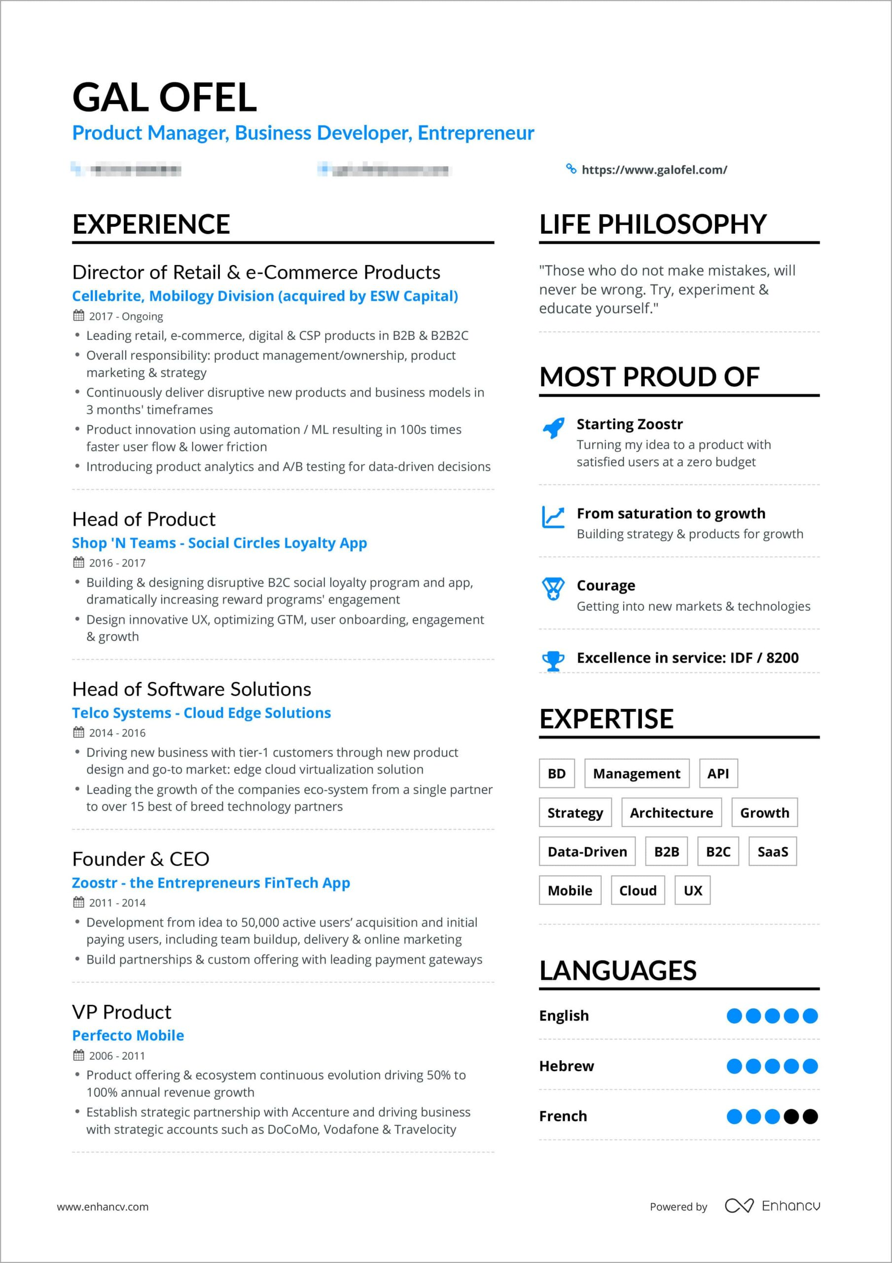 powerful one resume examples you can use now best galofelresume bordered caregiver sample Resume Best One Page Resume Examples
