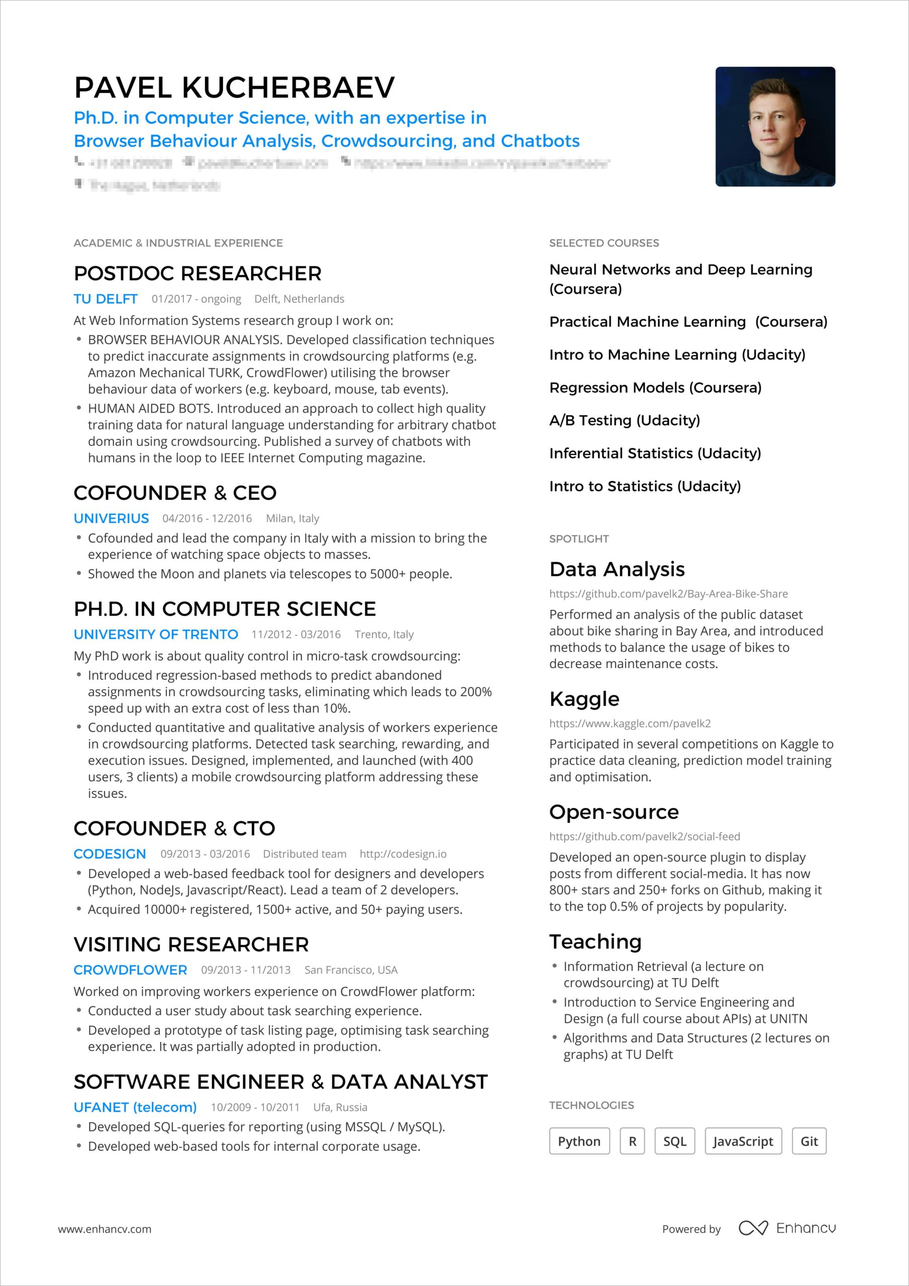 powerful one resume examples you can use now best pavel booking bordered min clinical Resume Best One Page Resume Examples