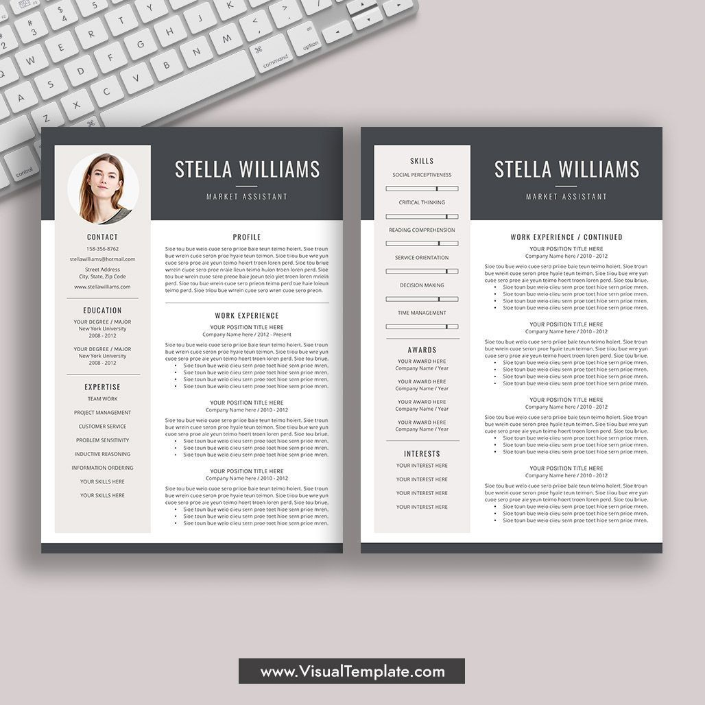 pre formatted resume template with icons fonts and editing guide unlimited digital Resume Resume Templates For Word 2021