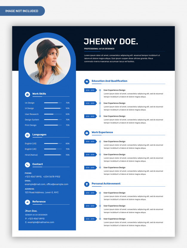 premium modern professional creative resume template with photo and examples elementary Resume Creative And Professional Resume