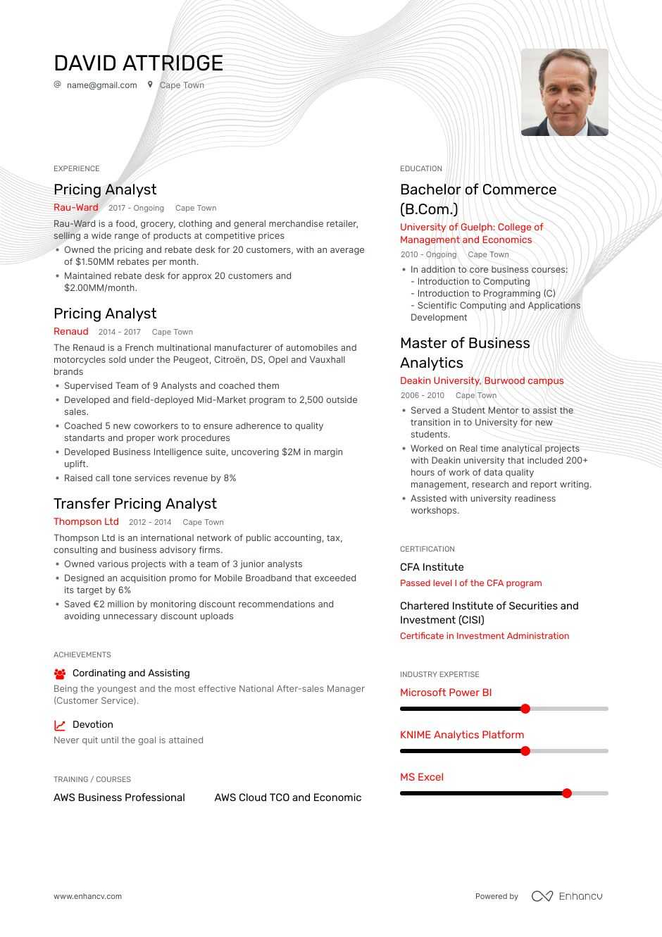 pricing analyst resume examples guide pro tips enhancv pharmaceutical campus security Resume Pharmaceutical Analyst Resume