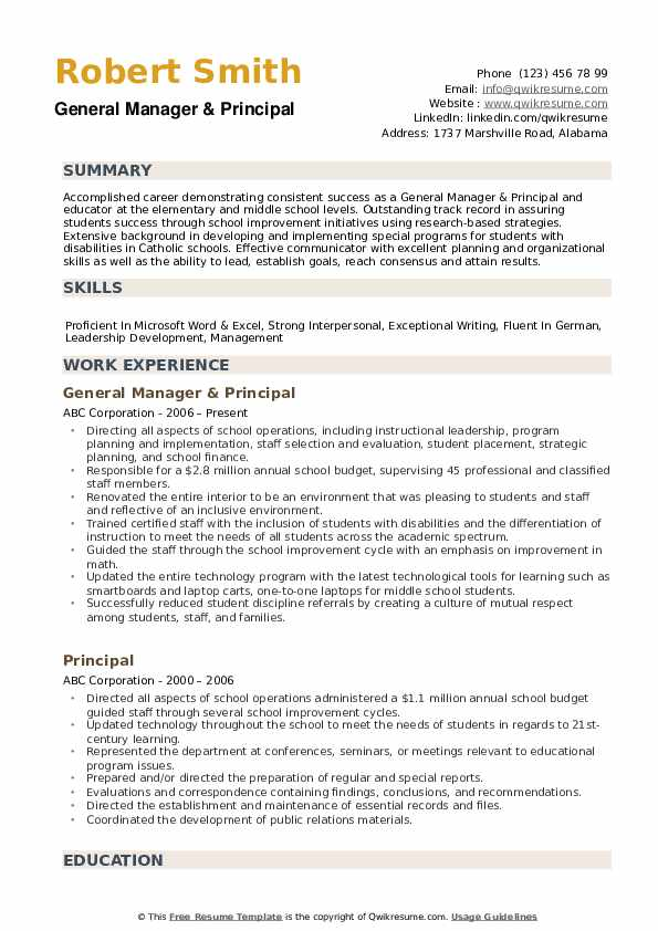 principal resume samples qwikresume objective examples pdf marriage and family therapist Resume Principal Resume Objective Examples