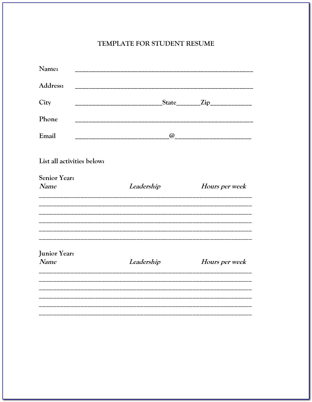 printable resume template free word pdf documents within vincegray2014 and templates Resume Free And Printable Resume Templates