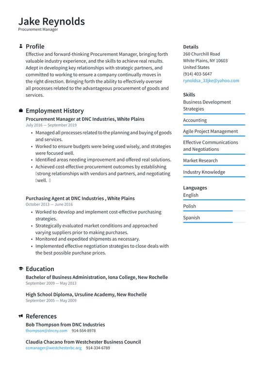 procurement manager resume examples writing tips free guides format for stb testing Resume Resume Format For Procurement Manager