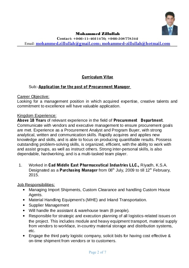procurement manager resume job description listing languages on with little experience Resume Procurement Job Description Resume