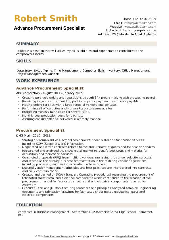 procurement specialist resume samples qwikresume job description pdf sap fico business Resume Procurement Job Description Resume