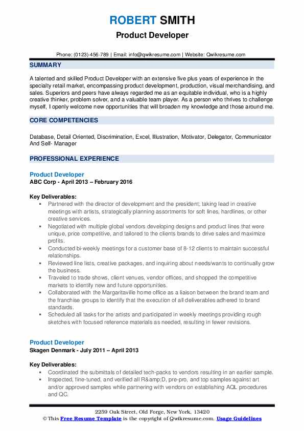 product developer resume samples qwikresume excel programmer pdf career objective for Resume Excel Programmer Resume
