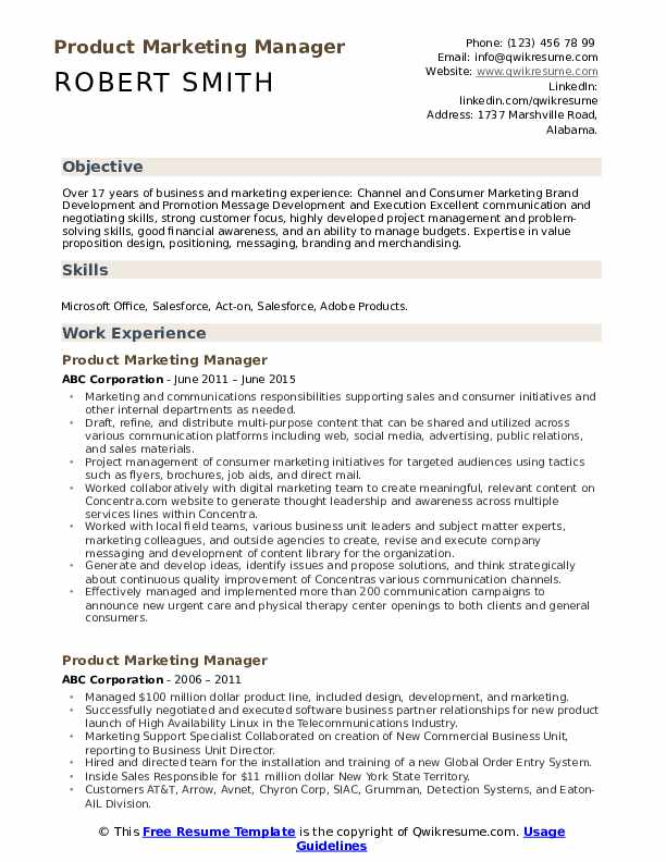 product marketing manager resume samples qwikresume channel pdf mortgage consultant Resume Channel Marketing Resume