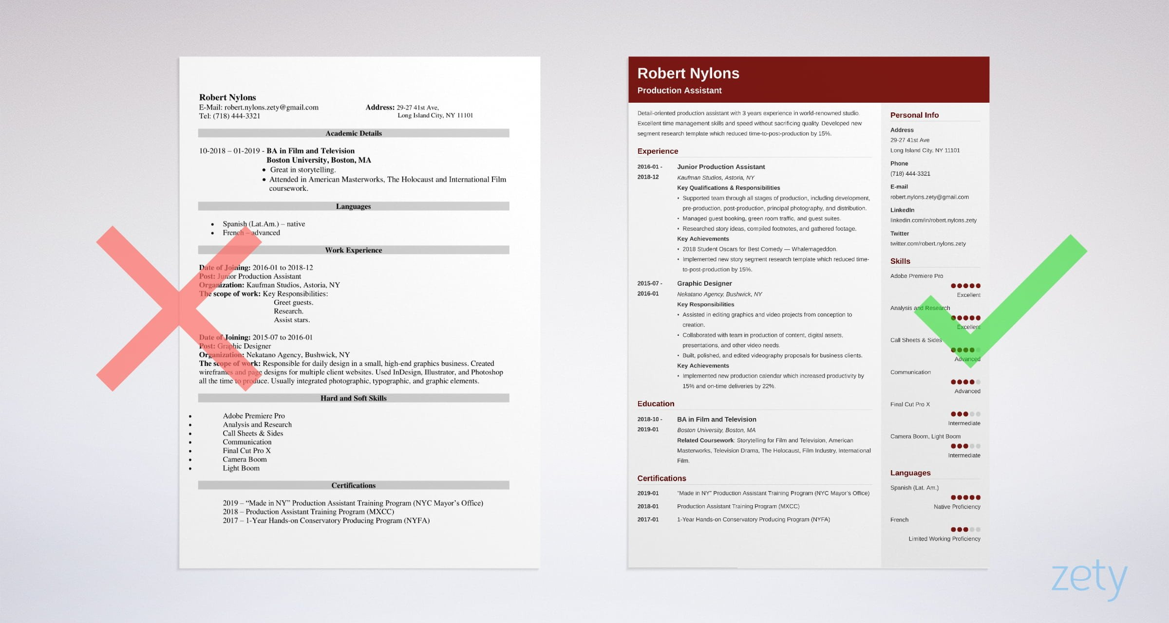 production assistant resume examples skills for film or tv example acting format psg Resume Production Assistant Resume