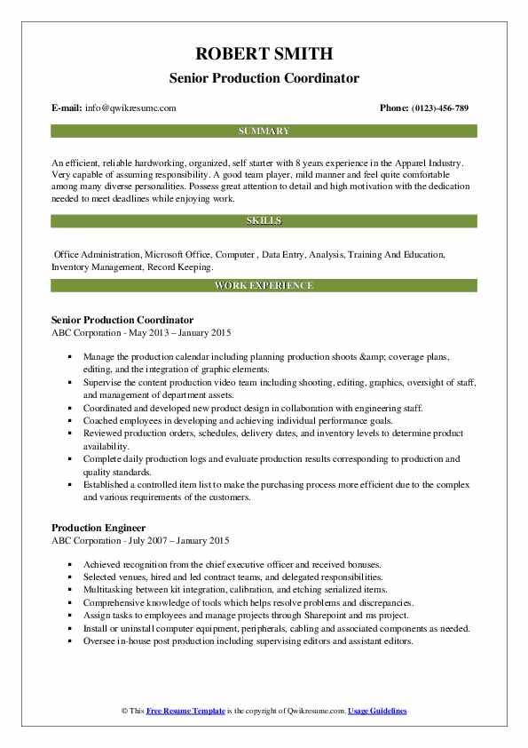 production coordinator resume samples qwikresume examples pdf functional vs chronological Resume Production Coordinator Resume Examples
