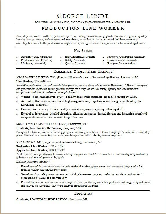 production line resume sample monster assembly worker sap functional consultant document Resume Assembly Line Worker Resume Sample
